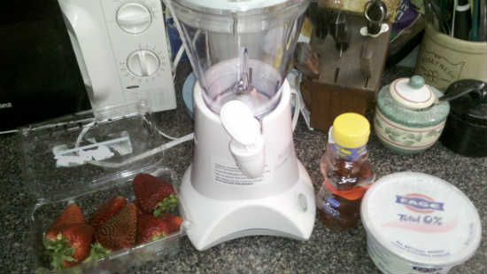 Strawberry Lassi ingredients