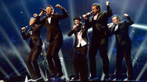 Justin Timberlake with NSync 2013 MTV VMAs
