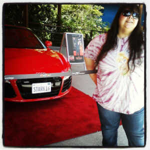 Me with Stark car