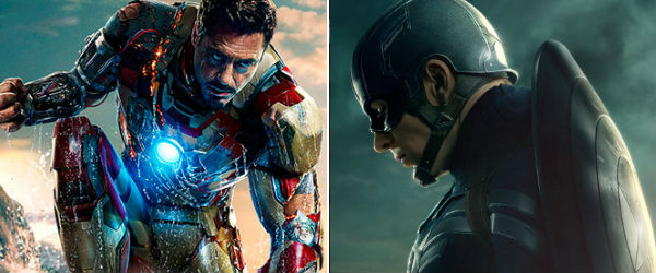 Iron Man vs Captain America - images courtesy of Marvel