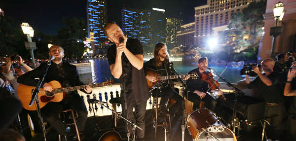 Imagine Dragons during the Crackle original concert series Playing It Forward.
