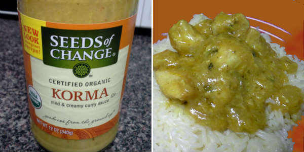 Seeds of Change Korma organic simmer sauce