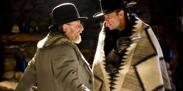 Hateful Eight cast - Tim Roth and Walter Goggins