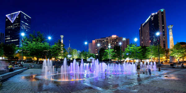 Downtown Atlanta - photo courtesy Discover Atlanta
