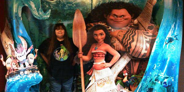 Me with Disney's Moana Display