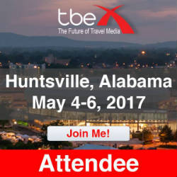 I'm going to #TBEX17 in Huntsville, Alabama!
