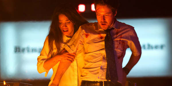 Movie Review: The Belko Experiment by zengrrl.com - John Gallagher Jr + Adria Arjona