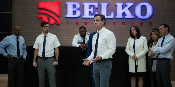 Movie Review: The Belko Experiment by zengrrl.com - Belko Corp employees