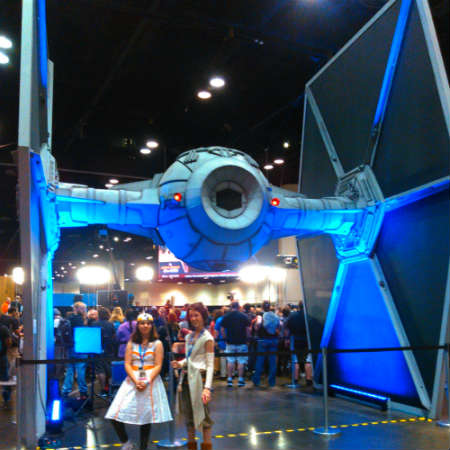 Star Wars Celebration 2017 in Orlando - Life-sized Tie Fighter