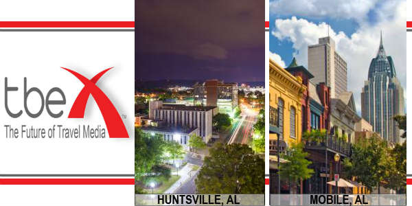 I'm Headed to Alabama for TBEX in Huntsville and Few Days in Mobile