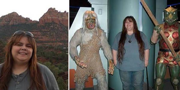 Michelle Snow in 2007 in Sedona, and in Las Vegas at the Star Trek restaurant