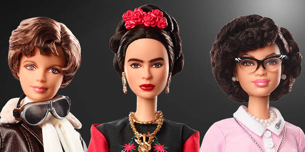 "There are three new ""Inspiring Women"" dolls that you can collect. These historical dolls come with educational information about the contributions each woman made to society and their respective fields - Amelia Earhart, Frida Kahlo, and Katherine Johnson."