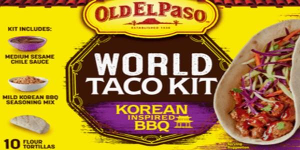 Old El Paso World Taco Kit in a Korean-Inspired BBQ flavor
