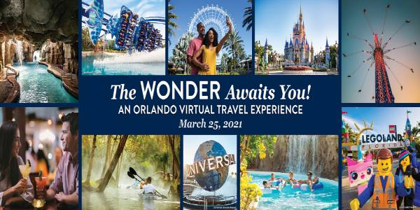 Visit Orlando to host The Wonder Awaits You! An Orlando Virtual Travel Experience