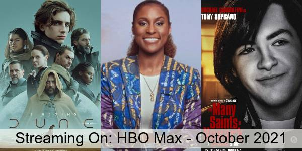 Streaming On: HBO Max in October 2021